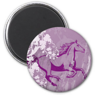 Mystic Garden Horse (Lt. Purple) Fridge Magnets