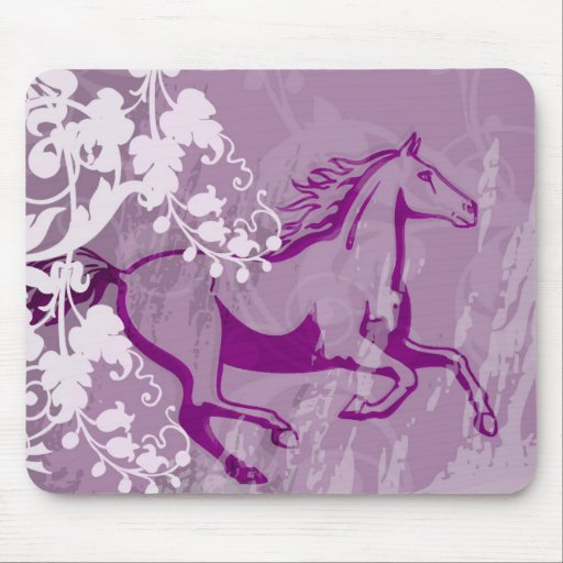 Mystic Garden Horse (Lt. Purple) Mouse Pads