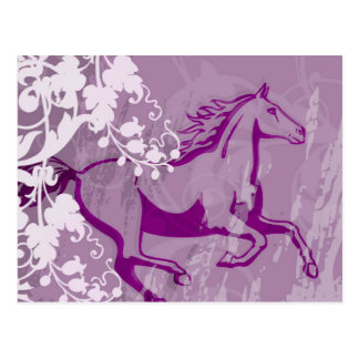 Mystic Garden Horse (Lt. Purple) Postcard