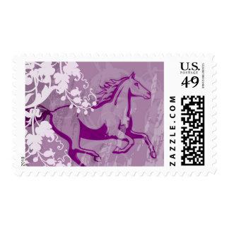 Mystic Garden Horse (Lt. Purple) Stamps