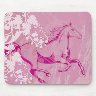 Mystic Garden Horse Mouse Pad