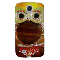Mystic Glow Gold & Wood Tree Owl Samsung S4 Case