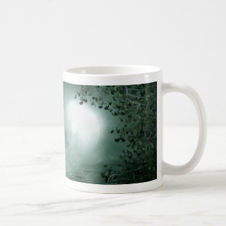 Mystic Green Moonlight Basic White Mug
