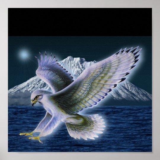 Mystic Hawk Poster