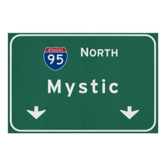 Mystic I-95 North Interstate Connecticut - Poster