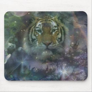 Mystic Jungle Tiger Mouse Pad