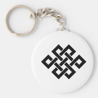 Mystic Knot - B&W 2 Keychain