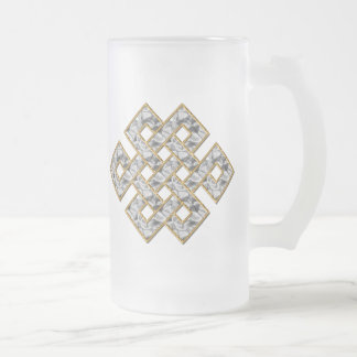 Mystic Knot - Silver & Gold 1 Coffee Mugs