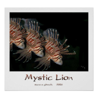 MYSTIC LION Art Print
