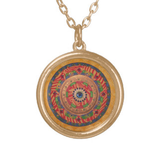 Mystic Mandala: Unique Painting Necklace