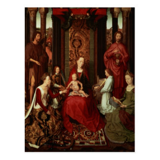 Mystic Marriage of St. Catherine and Other Saints Postcard