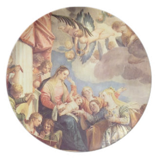 Mystic Marriage of St Catherine by Paolo Veronese Party Plates
