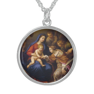 Mystic Marriage of St Catherine Sterling Silver Necklace