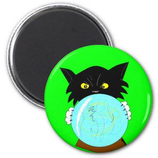 Mystic Molly Spiritualist Cat Fridge Magnet
