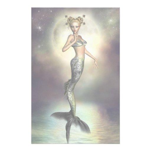 Mystic Moon Mermaid Stationery