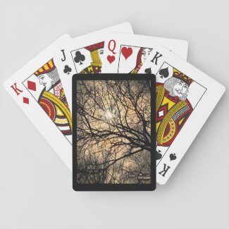 Mystic Moon through Tree Playing Cards