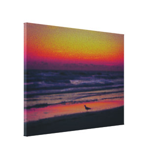 Mystic Morning Dawn At the Beach Pastels Canvas Print