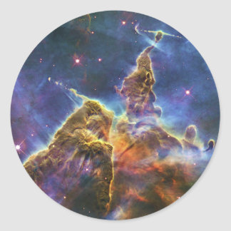 Mystic Mountain Carina Nebula HH 901 HH 902 Classic Round Sticker