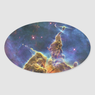 Mystic Mountain Carina Nebula HH 901 HH 902 Oval Sticker