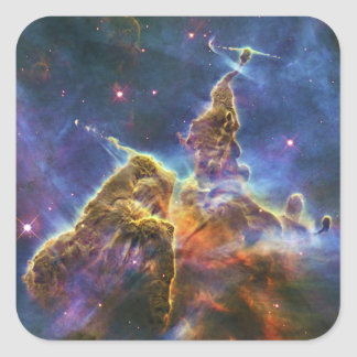 Mystic Mountain Carina Nebula HH 901 HH 902 Square Sticker