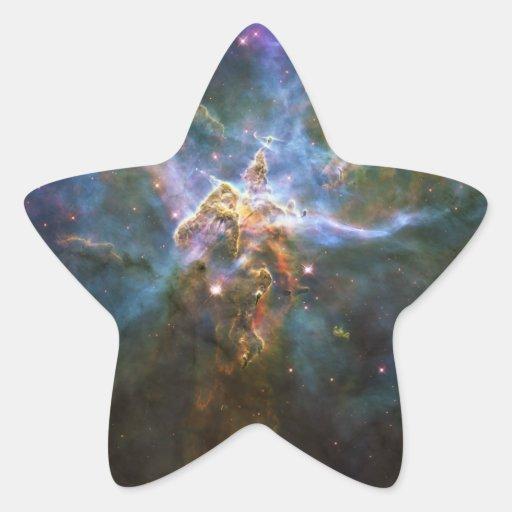 Mystic Mountain Carina Nebula HH 901 HH 902 Wide Star Stickers