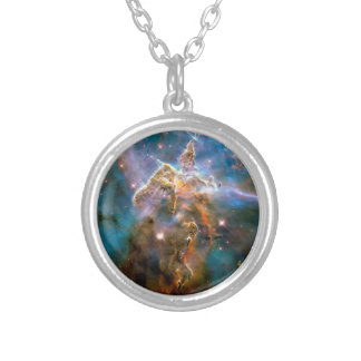 Mystic Mountain Carina Nebula Hubble Space Photo Silver Plated Necklace