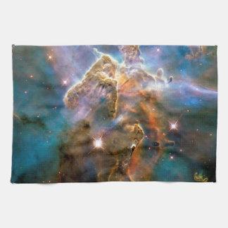 Mystic Mountain Carina Nebula Hubble Space Photo Towel