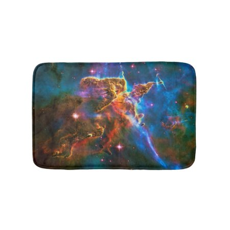 Mystic Mountain, Carina Nebula outer space picture Bathroom Mat