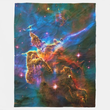 Mystic Mountain, Carina Nebula outer space picture Fleece Blanket