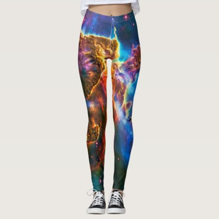 Mystic Mountain, Carina Nebula outer space picture Leggings