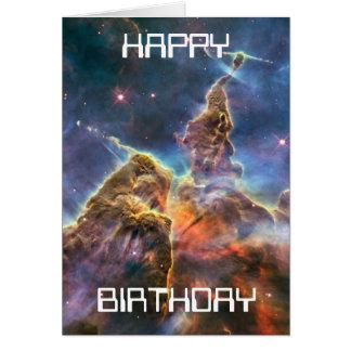 mystic mountain, hubble image birthday card