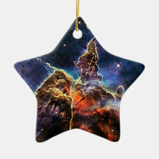 Mystic Mountain in Space NASA Ceramic Ornament