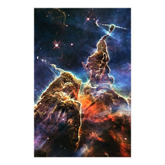 Mystic Mountain in Space NASA Stationery