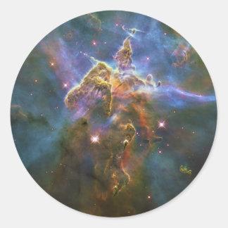 Mystic Mountain of Rising Gas in the Carina Nebula Classic Round Sticker