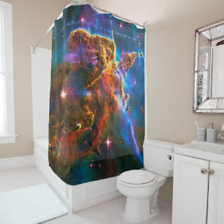 Mystic Mountain, Showering in Starshine Shower Curtain