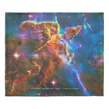 Mystic Mountain, sleeping with the stars Duvet Cover
