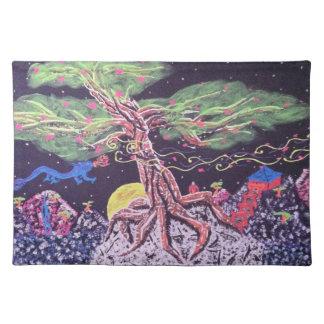 Mystic mountain top mat cloth place mat