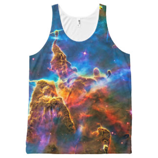 Mystic Mountains - Carina Nebula Astronomy Image All-Over-Print Tank Top