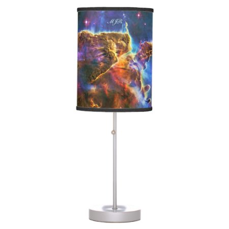 Mystic Mountains - Carina Nebula Astronomy Image Table Lamp