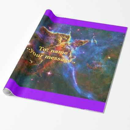 Mystic Mountains - Carina Nebula Astronomy Image Wrapping Paper
