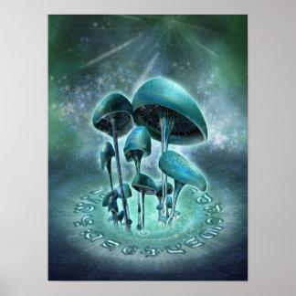 Mystic Mushrooms Poster
