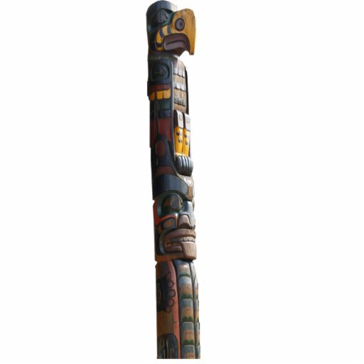 Mystic Native American Totem Pole Sculpted Magnet Cut Out