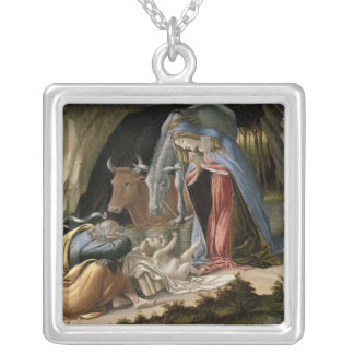 Mystic Nativity, 1500 Silver Plated Necklace