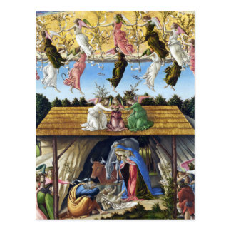 Mystic Nativity by Sandro Botticelli Postcard