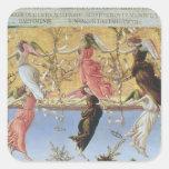 Mystic Nativity Square Sticker
