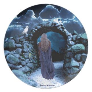 Mystic Night Melamine Plate