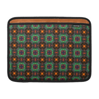 Mystic orange and emerald pattern MacBook sleeve