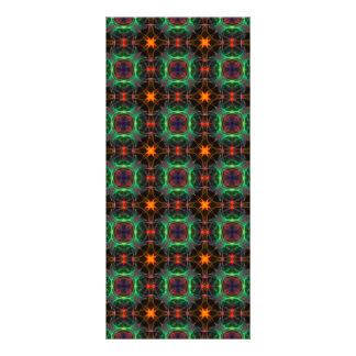 Mystic orange and emerald pattern rack card design