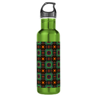 Mystic orange and emerald pattern water bottle