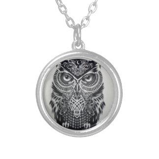 MYSTIC OWL TALISMAN SILVER PLATED NECKLACE